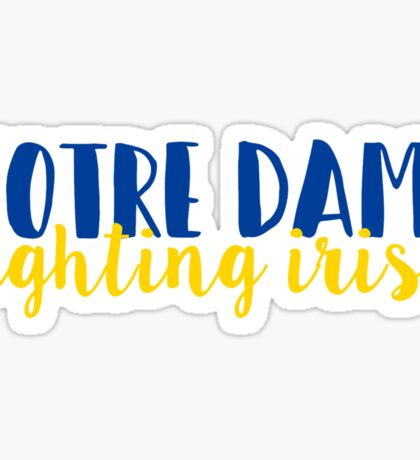 Notre Dame Fighting Irish Sticker