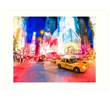 NYC Times Square - A Slice Of The Big Apple Art Print