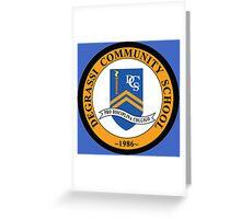 Degrassi School Logo - TV Series Greeting Card