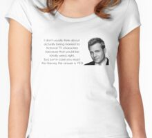 Want to Marry Harvey Specter? Women's Fitted Scoop T-Shirt