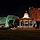 Adelaide's Elder Park Rotunda at night by Ferenghi