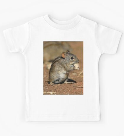 Striped Grass Mouse Kids Tee
