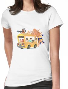 Helpful Bus Womens Fitted T-Shirt