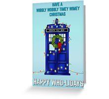 Doctor Who Christmas Card Greeting Card