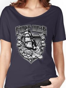 Nautical First Mate Vintage Old Ship Waves Distressed Women's Relaxed Fit T-Shirt