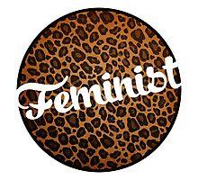 Leopard Print Feminist Photographic Print