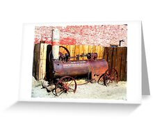 """Steam Tractor""  Virginia City, Nevada USA Greeting Card"