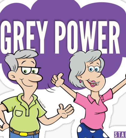 Grey Power Sticker