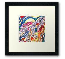 abstract color pencil stroke Framed Print