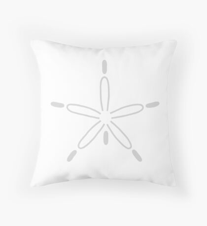 Sand Dollar Gray And White Throw Pillow