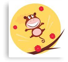 New jungle Monkey. Orange and brown Canvas Print