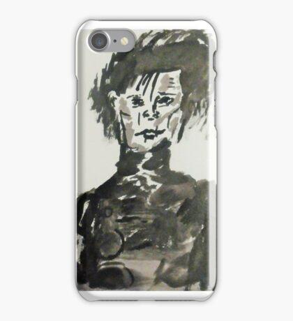 Edward Scissorhands in INK portrait iPhone Case/Skin