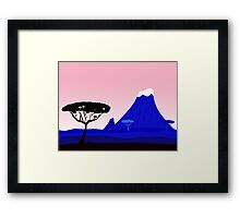 New in shop : Luxury tanzania illustration Framed Print