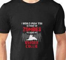 Front Of Zombies Border Collie Unisex T-Shirt