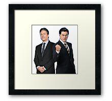 Jon Stewart - Stephen Colbert - The Daily Show - The Colbert Report Framed Print