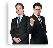 Jon Stewart - Stephen Colbert - The Daily Show - The Colbert Report Canvas Print