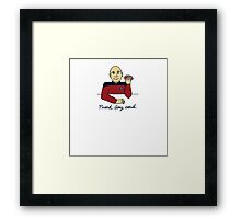 Captain Picard Framed Print