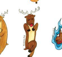 Santa's Reindeer  by VIXTOPHER Sticker