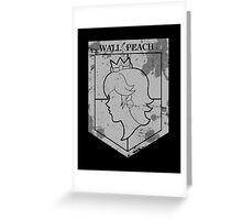 Wall Peach Greeting Card