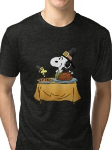 Snoopy Thanksgiving Tri-blend T-Shirt
