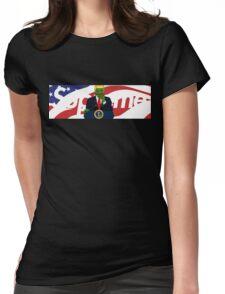 Supreme x Donald Trump Pepe Parody Collab American Flag Box Logo  Womens Fitted T-Shirt