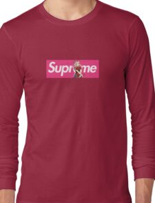 Sakura Naruto x Supreme Parody Collab Small Box Logo Pink Long Sleeve T-Shirt