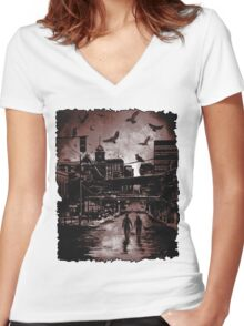 Cover: Blood & Smoke: The Strix Chronicle Women's Fitted V-Neck T-Shirt