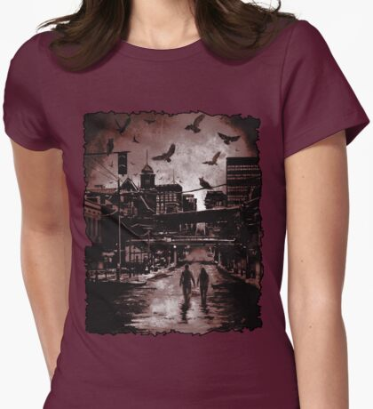 Requiem Art: Blood and Smoke: The Strix Chronicle Womens Fitted T-Shirt
