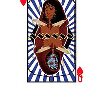 LizTen Queen of Hearts Playing Card by DutchsDynamic