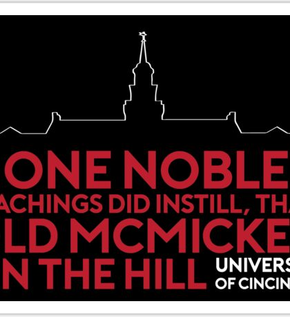 McMicken on the Hill - University of Cincinnati Sticker