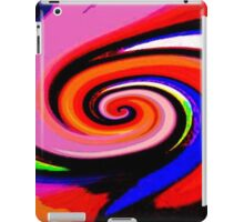 Pink orange Swirl iPad Case/Skin