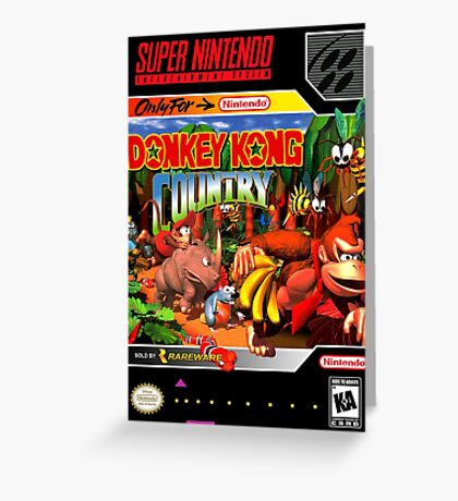 Donkey Kong Country Poster Greeting Card