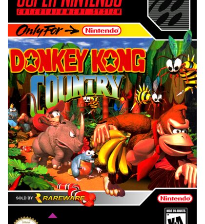 Donkey Kong Country Poster Sticker