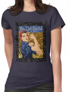 glitter rosie the riveter Womens Fitted T-Shirt