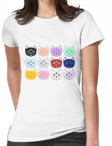 Third Eye Cat Pattern Womens Fitted T-Shirt