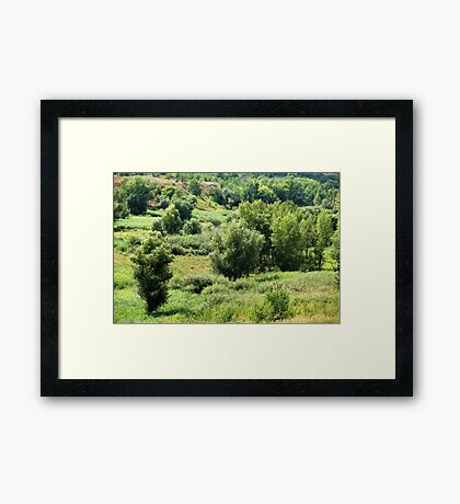 hilly scenic landscape Framed Print