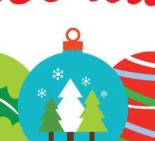 Christmas Tree Decorating Team Sticker