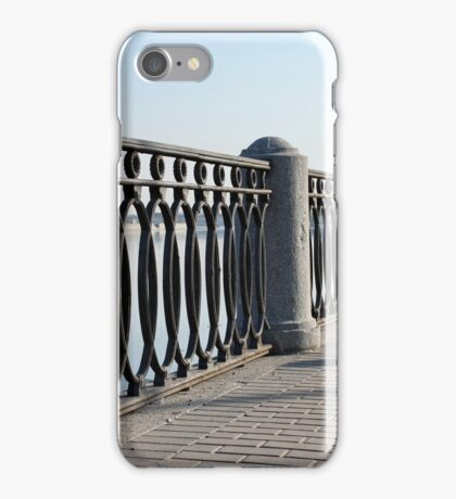 embankment  fencing perspective view iPhone Case/Skin