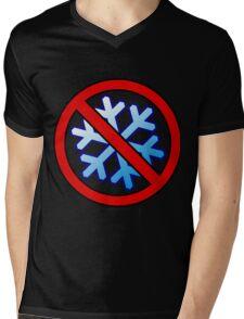 No Special Snowflakes - Red No Circle Symbol Mens V-Neck T-Shirt