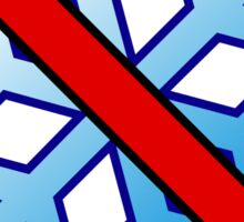 No Special Snowflakes - Red No Circle Symbol Sticker