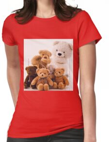 Teddy Bears Womens Fitted T-Shirt