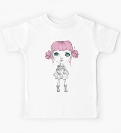 Stares with pink hair Kids Tee