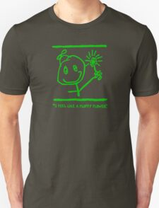 """FLUFFY FLOWER"" SWAG - GREEN INK T-Shirt"