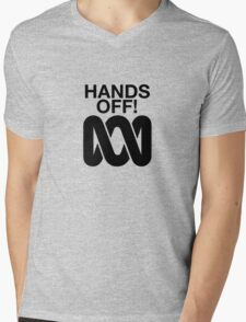 Hands Off the ABC Mens V-Neck T-Shirt