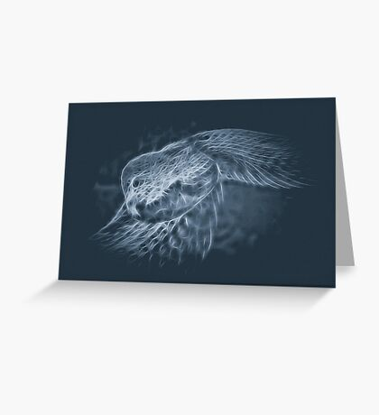 Glowing Scales Greeting Card