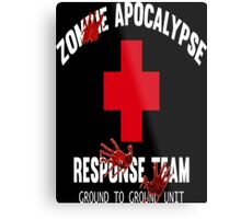 Zombie Response Team - Hard Day Metal Print