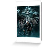 Carson Wentz Philadelphia Sports Art North Dakota State Football Greeting Card