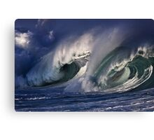 Winter Waves At Waimea Bay 6 Canvas Print