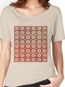 Vintage Gypsy Poinsettia Design Women's Relaxed Fit T-Shirt