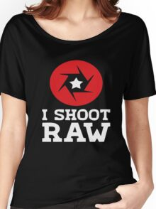I Shoot RAW - Funny Photography Photographer Gift T-Shirt Women's Relaxed Fit T-Shirt
